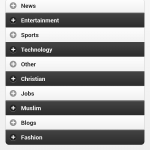 news categories screen shot